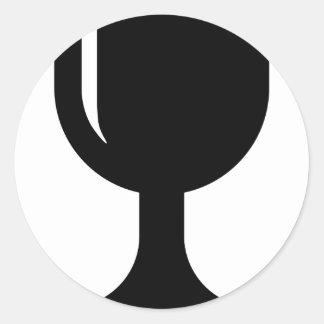 Glass cup classic round sticker