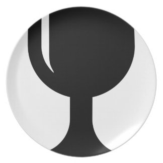 Glass cup dinner plate