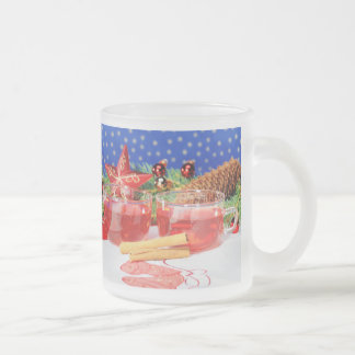 Glass cup glad Christmas