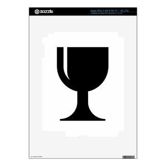 Glass cup iPad 3 skin
