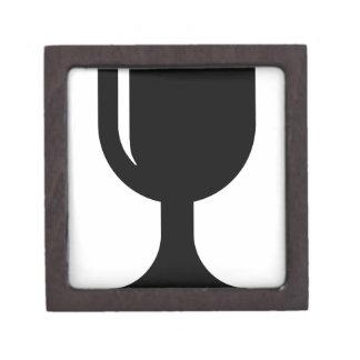 Glass cup jewelry box