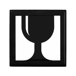 Glass cup keepsake box