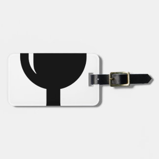 Glass cup luggage tag