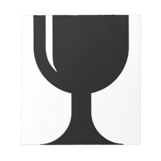 Glass cup note pad