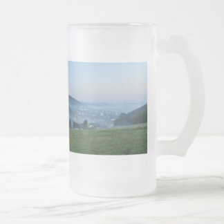 Glass cup of autumn mornings in the winner
