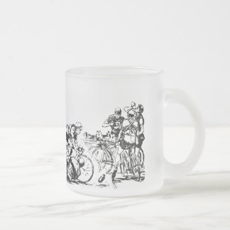 """Glass cup of """"Bicycle Race """""""