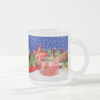 Glass cup of Christmas
