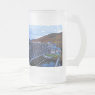 Glass cup of Edersee concrete dam in the autumn
