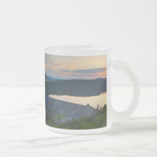 Glass cup of Edersee concrete dam sunset