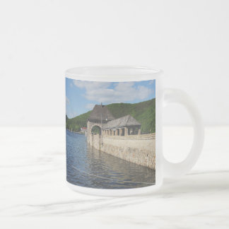 Glass cup of Edersee with closed forest-hits a