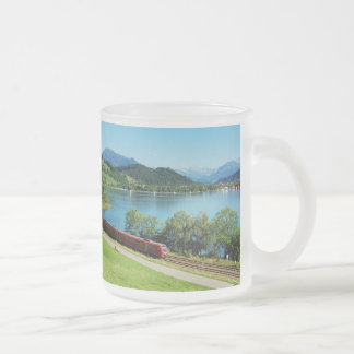 Glass cup of large Alpsee with Immenstadt