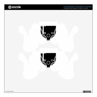 Glass cup PS3 controller decal