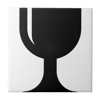 Glass cup tile
