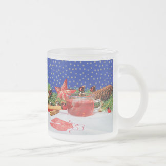 Glass cup with Christmas motive