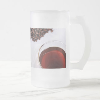 Glass cup with Kaffemotiv