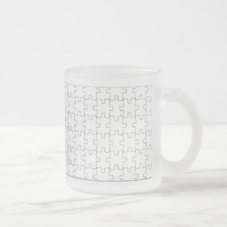 Glass cup with motive for puzzle