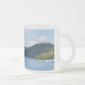 Glass cup with photo of the Edersee and closed