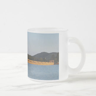 Glass cup with photo of the Edersee concrete dam