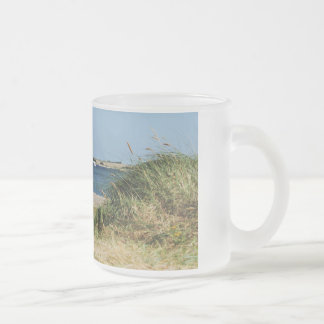 Glass cup with photo of the Fehmarnsund