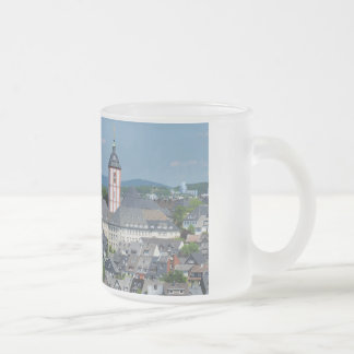 Glass cup with the city opinion of victories