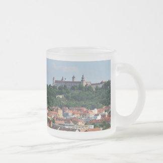 Glass cup Wuerzburg fortress Marienberg