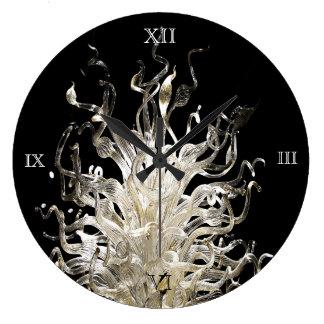 Glass Curls Large Clock
