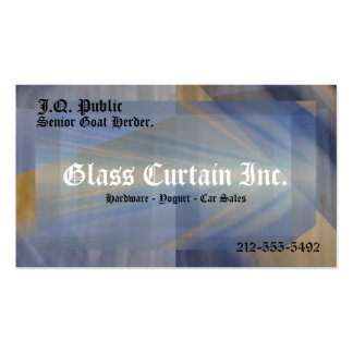 Glass Curtain 3-D Business Card With Soft Border