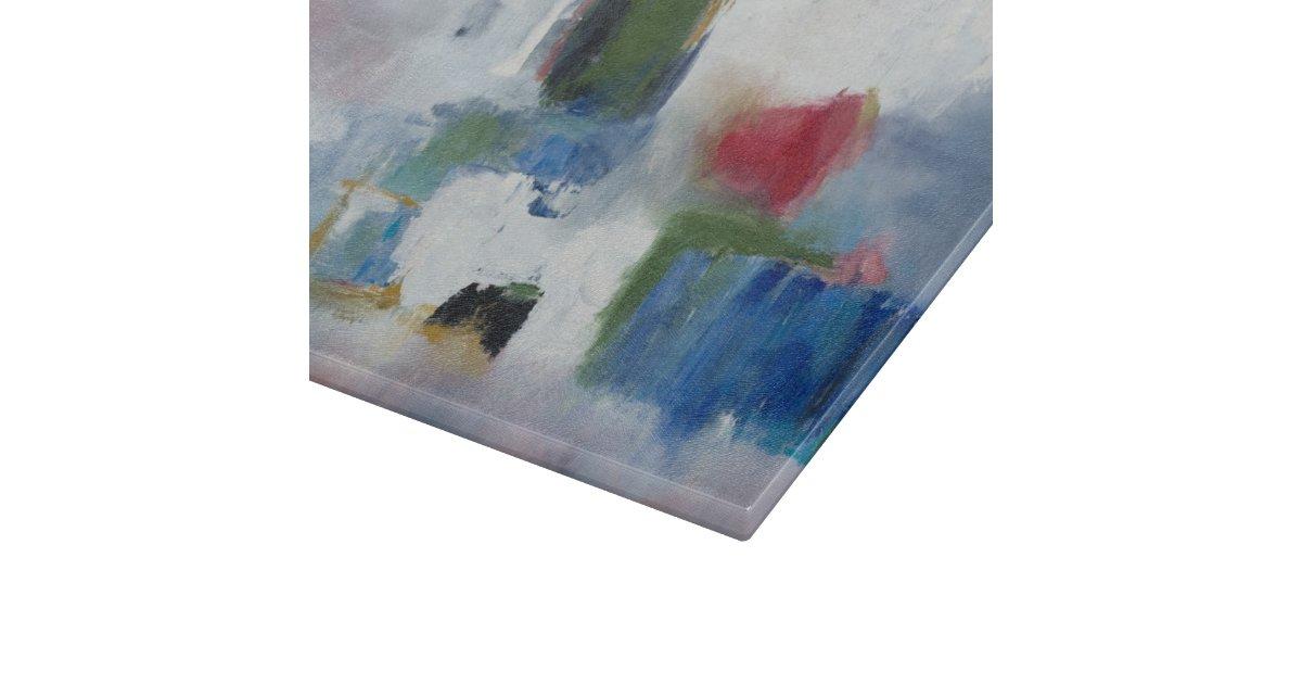 Glass cutting board 11 x8 original art zazzle - Decorative tempered glass cutting boards ...