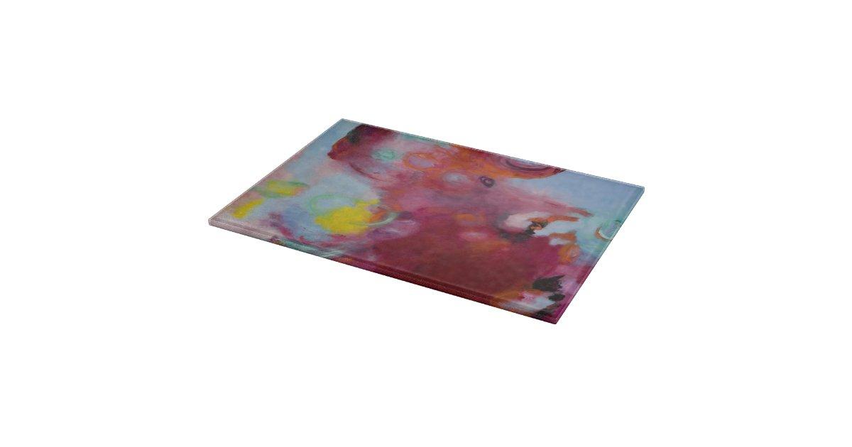 Glass cutting board 8x11 original art zazzle - Decorative tempered glass cutting boards ...