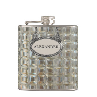 Glass Decanter Image Personalized Hip Flask