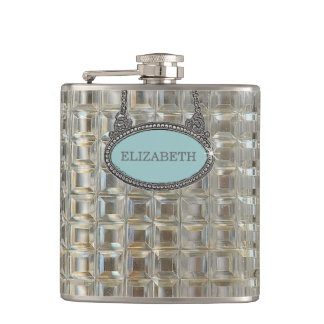 Glass Decanter Look-Wedding Hip Flask