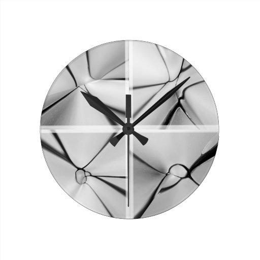 Glass design clock