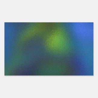 Glass Distort (11 of 12) Green Rectangular Sticker
