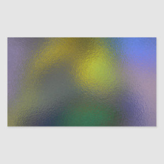 Glass Distort (11 of 12) Yellow Rectangular Sticker