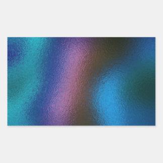 Glass Distort (2 of 12) (Blue) Rectangular Sticker