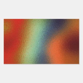 Glass Distort (2 of 12) (Red) Rectangular Sticker
