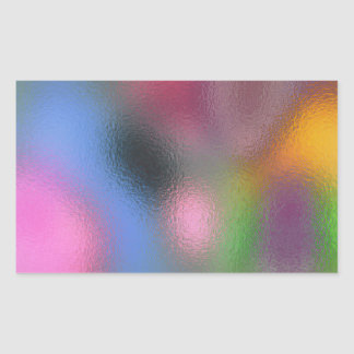 Glass Distort (3 of 12) Rectangular Sticker