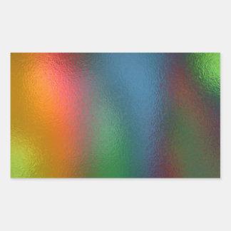 Glass Distort (5 of 12) Rectangular Sticker