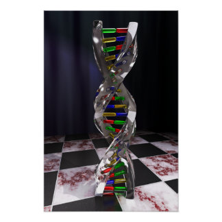 Glass DNA Poster