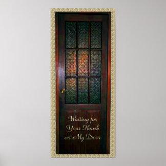 Glass Door Poster