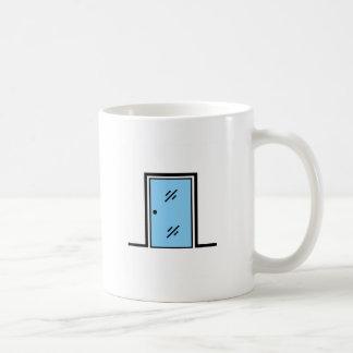 glass door with frame coffee mug