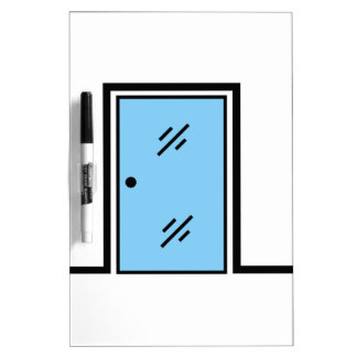glass door with frame Dry-Erase board