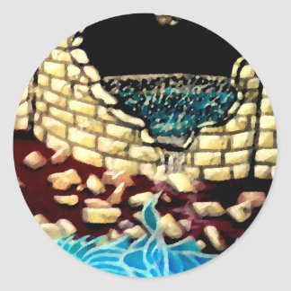 """""""Glass Dragon Hole in the Wall  CricketDiane Art Classic Round Sticker"""