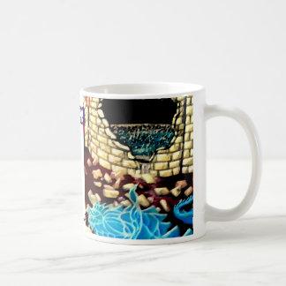 """Glass Dragon Hole in the Wall  CricketDiane Art Coffee Mug"