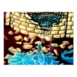 """""""Glass Dragon Hole in the Wall  CricketDiane Art Postcard"""