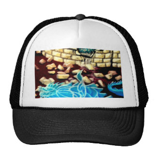"""Glass Dragon Hole in the Wall  CricketDiane Art Trucker Hat"