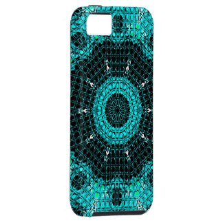 Glass Effect Mosaic Aquamarine iPhone 5 Cases