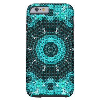 Glass Effect Mosaic Aquamarine Tough iPhone 6 Case
