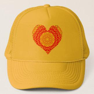 Glass Effect Mosaic Orange/Yellow (Heart) Trucker Hat