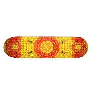 Glass Effect Mosaic Orange/Yellow Custom Skateboard